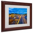 Trademark Fine Art 11in. x 14in. Acrylic Alexander Bridge Paris, Wood Frame