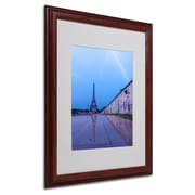 "Trademark Fine Art 20"" x 16"" Canvas Matted Framed Art, Wood Frame"