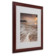 Trademark Fine Art 16 x 20 Acrylic Etretat Artwork, Wood Frame