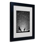"Trademark Fine Art 14"" x 11"" Acrylic, Canvas & Wood Matted Framed Art, Black Frame"