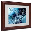 Trademark Fine Art 11in. x 14in. Acrylic Blue Rhapsody Artwork, Dark Wooden Frame