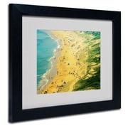 "Trademark Fine Art 11"" x 14"" Acrylic, Canvas & Wood Beach Artwork, Black Frame"
