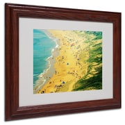 "Trademark Fine Art 11"" x 14"" Acrylic, Canvas & Wood Beach Artwork, Wood Frame"
