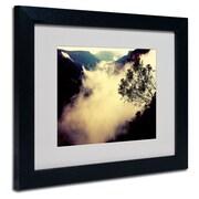 "Trademark Fine Art 11"" x 14"" Acrylic/Canvas/Wood Framed Art, Black Frame"