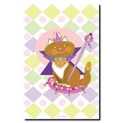 "Trademark Fine Art 16"" x 24"" Wooden Frame Pretty Kitty Princess"