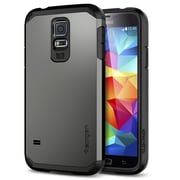 Spigen™ Tough Armor Case For Galaxy S5, Gunmetal
