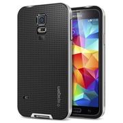 Spigen™ Neo Hybrid Case For Galaxy S5, Satin Silver