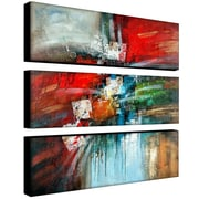 Trademark Fine Art 10 x 32 Canvas Wall Art Cube Abstract IV