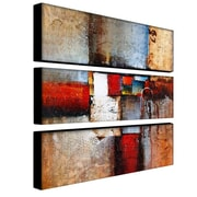 Trademark Fine Art 10 x 32 Canvas Wall Art Cube Abstract VI