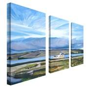 """Trademark Fine Art 12"""" x 24"""" Wooden Frame Canvas Art"""