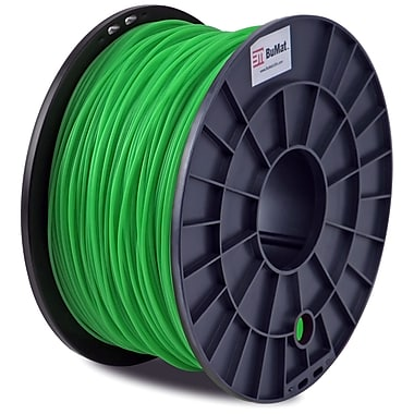 Flashforge™ BuMat™ 1.75 mm 2.2lbs. ABS Filament With Spool For FFF 3D Printer, Green
