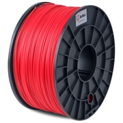 Flashforge™ BuMat™ 1.75 mm 2.2lbs. PLA Filament With Spool For FFF 3D Printer, Red