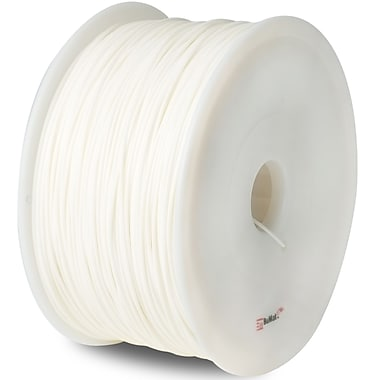 Flashforge™ BuMat™ Elite 1.75 mm 2.2lbs. ABS Filament With Spool For FFF 3D Printer, White