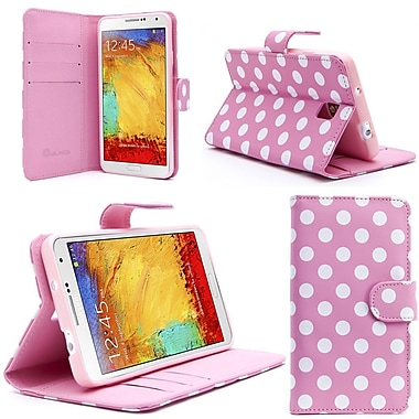 i-Blason Samsung Galaxy Note 4 Case - Slim Leather Book Wallet Cover - Dal Pink