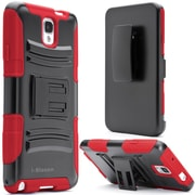 i-Blason Samsung Galaxy Note 4 Case - Prime Series Dual Layer Holster Case - Red