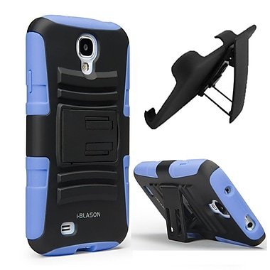 i-Blason Prime Dual Layer Holster Case With Kickstand For Samsung Galaxy S4, Blue