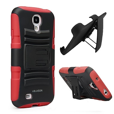 i-Blason Prime Dual Layer Holster Case With Kickstand For Samsung Galaxy S4, Red