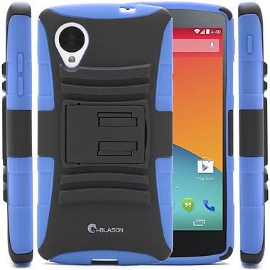 i-Blason Prime Series Dual Layer Holster Case With Belt Clip For Google Nexus 5, Blue