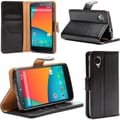 i-Blason Book Folio Wallet Case For Google Nexus 5, Black