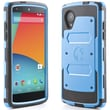 i-Blason Armorbox Dual Layer Hybrid Protective Case & Screen For Google Nexus 5, Blue