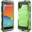 i-Blason Armorbox Dual Layer Hybrid Protective Case & Screen For Google Nexus 5, Green