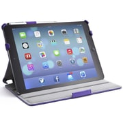 i-Blason Slim Book Shell Stand Folio Case With Bonus Stylus For iPad Air, Purple