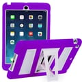 i-Blason Armorbox ABH 2 Layer Kickstand Case With Screen Protector For iPad Air, Purple/White