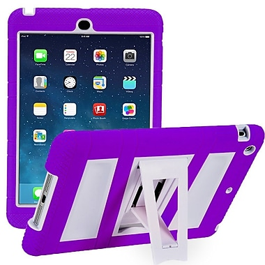 i-Blason IPAD5-ABH-PRPLW Silicone Case for Apple iPad Air, Purple/White