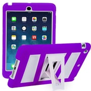 i-Blason IPAD5-ABH-PRPLW Silicone Case for Apple iPad Air, Purple/White