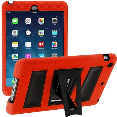 i-Blason IPAD5-ABH-RED Silicone Case for Apple iPad Air, Red/Black