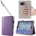 i-Blason 1Fold Slim Book Case With Bonus Stylus For iPad Mini With Retina Display, Purple