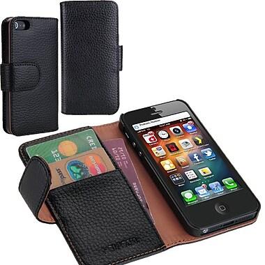 i-Blason Book Folio Wallet Case For iPhone 5C, Black