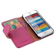i-Blason Book Folio Wallet Case For iPhone 5C, Pink