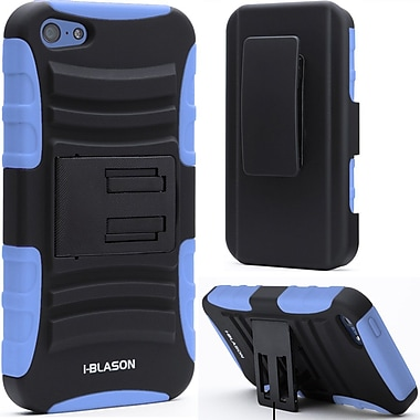 i-Blason Prime Series Dual Layer Holster Case With Belt Clip For iPhone 5C, Blue