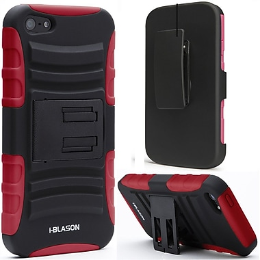 i-Blason Prime Series Dual Layer Holster Case With Belt Clip For iPhone 5C, Red