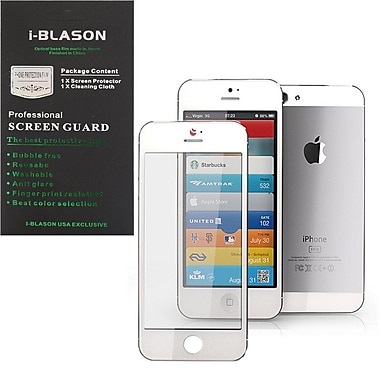 i-Blason HD Matte Bubble Free Screen Protector For iPhone 5/5S, White