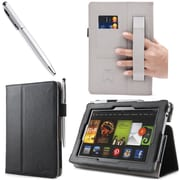 "i-Blason Slim Book Leather Case With Bonus Stylus For 7"" Amazon Kindle Fire HD 2013, Black"
