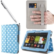 "i-Blason Slim Book Leather Case With Bonus Stylus For 7"" Amazon Kindle Fire HD 2013, Dalmatian Blue"