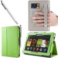 i-Blason Slim Book Leather Case With Bonus Stylus For 7in. Amazon Kindle Fire HD 2013, Green