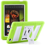 "i-Blason Armorbox 2 Layer Tough Case For 7"" Amazon Kindle Fire HD 2013, Green/White"