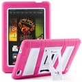 i-Blason Armorbox 2 Layer Tough Case For 7in. Amazon Kindle Fire HD 2013, Pink/White