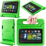 "i-Blason Armorbox Kido Series Light Weight Stand Case For 7"" Amazon Kindle Fire HD 2013, Green"