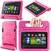 "i-Blason Armorbox Kido Series Light Weight Stand Case For 7"" Amazon Kindle Fire HD 2013, Pink"