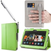 i-Blason Slim Book Leather Case With Bonus Stylus For 7 Amazon Kindle Fire HDX 2013, Green