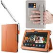 i-Blason Slim Book Leather Case With Bonus Stylus For 7in. Amazon Kindle Fire HDX 2013, Orange