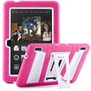 "i-Blason Armorbox 2 Layer Tough Case For 7"" Amazon Kindle Fire HDX 2013, Pink/White"