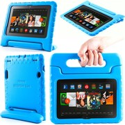"""i-Blason Armorbox Kido Series Light Weight Stand Case For 7"""" Amazon Kindle Fire HDX 2013, Blue"""
