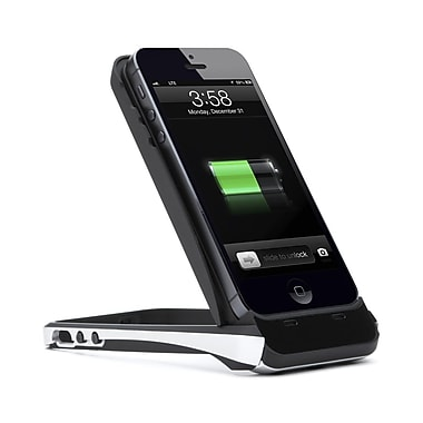 i-Blason PowerStand Rechargeable Battery Kickstand Case For iPhone 5/5S, Black