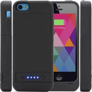 i-Blason PowerGlider Rechargeable Battery Case With USB Charging Port For iPhone 5C, Black