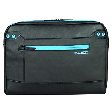 Samsill® Altego™ Coated Canvas Cyan Sleeve For 13in. Notebook, Black